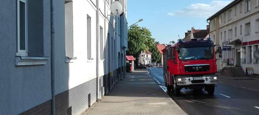 Na ul. Kościuszki wezwano straż pożarną