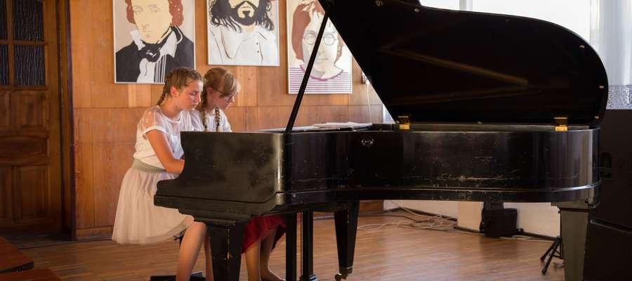 Podczas muzycznych popisów uczniów