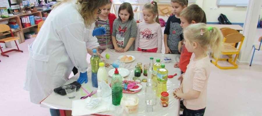 Podczas wizyty w szkole w Jamielniku