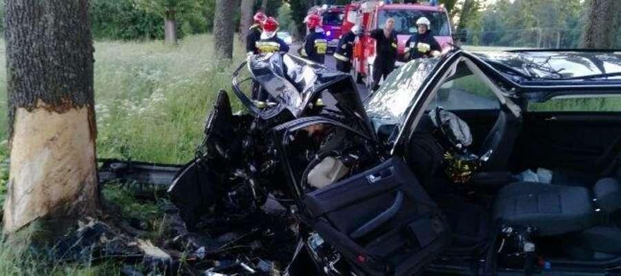Wypadek w okolicach Nowej Karczmy.