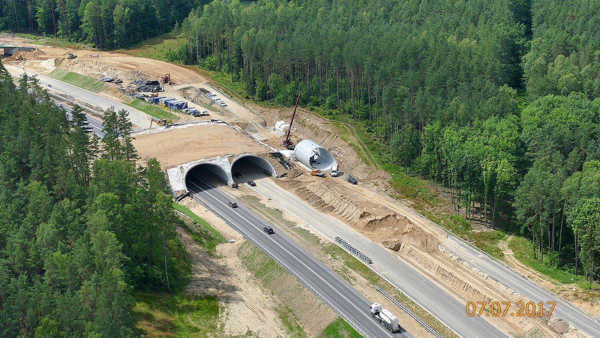 Budowa drogi ekspresowej Olsztyn-Olsztynek w lipcu.