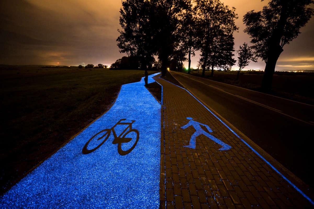Świecąca ścieżka z Lidzbarka Warmińskiego robi furorę w świecie - full image