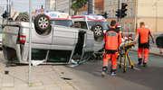 Wracamy do tematu: w centrum Olsztyna zderzyły się dwa auta [FILM z KAMER ITS]