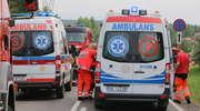 Cztery auta zderzyły się między Olsztynem a Dywitami. Jedna osoba ranna