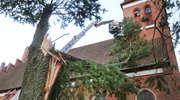 Wichura powaliła drzewo na dach zabytkowego kościoła w Orzechowie [zdjęcia i film]