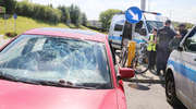 Wypadek na Nagórkach w Olsztynie. Kierująca passatem potrąciła rowerzystkę