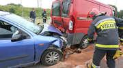 Wypadek na Schumana. Kierująca fordem uderzyła w citroena