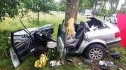 Stracił panowanie nad samochodem i uderzył w drzewo, jedna osoba nie żyje. Tragiczny bilans weekendu