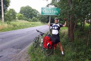 W 18 dni przejechał ponad 2 tys. kilometrów rowerem z Anglii do Olsztyna