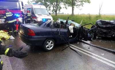 Tragiczny wypadek koło Garbna. Jedna ofiara śmiertelna