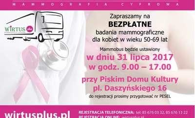 Bezpłatne badania mammograficzne w Piszu
