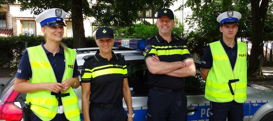 Międzynarodowy patrol drogowy w Piszu
