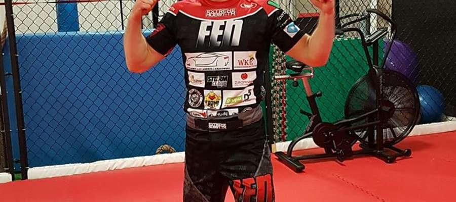 Kamil Łebkowski poznał rywala, z którym zmierzy się podczas gali FEN 18 fot. funpage Kamil Łebkowski
