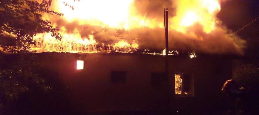 Pożar budynku gospodarczego w Smolance (gm. Sępopol)