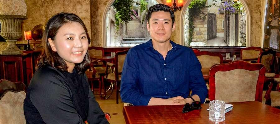 Sangwon Sung z żoną  Kayoung Kim są w Mławie od roku