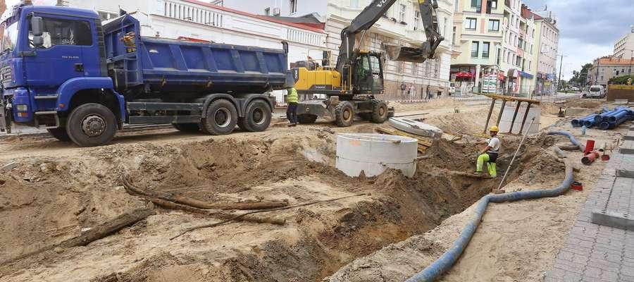 Pieniężnego remont  Olsztyn-remont i przebudowa ulicy Pieniężnego