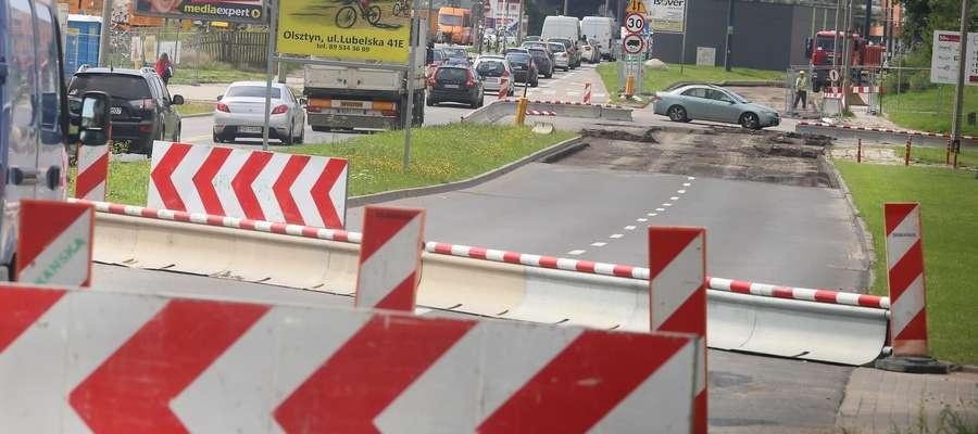 Korki przebudowa Partyzantów  Olsztyn-korki na ulicy Towarowej i Lubelskiej w związku z przebudową Partyzantów.