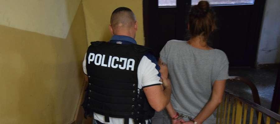 Kryminalni zatrzymali 36-letnią Dominikę S. w niedzielę na osiedlu Nad Jarem