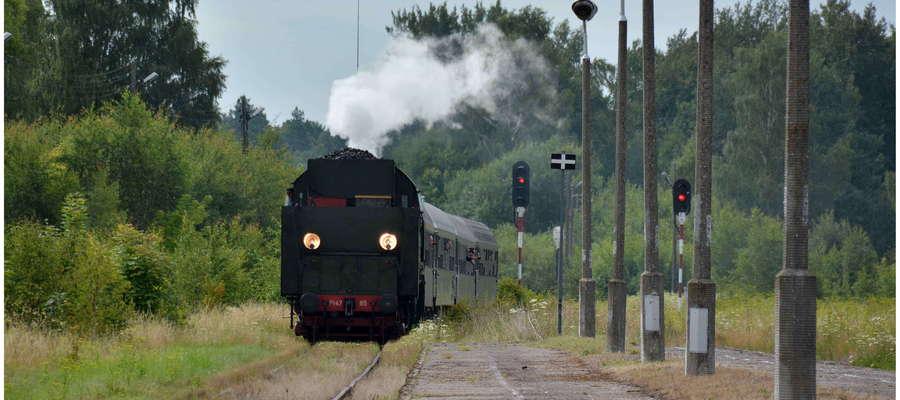 Zabytkowy pociąg zawitał do Ornety