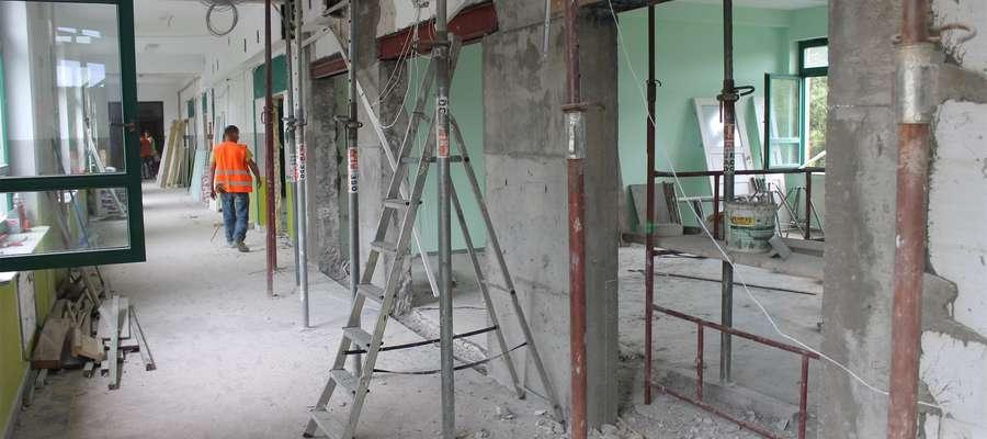 Adaptacja pomieszczeń w budynku gimnazjum