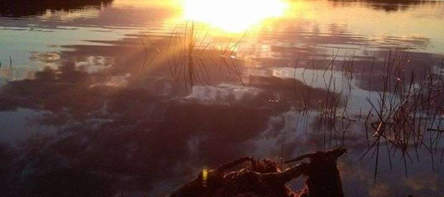 Zachód słońca na jeziorem Kinkajmy