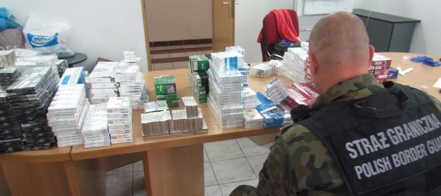 Pogranicznicy zabezpieczyli łącznie 74297 papierosów różnych marek