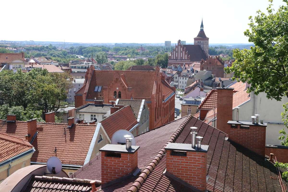 Starówka  Olsztyn - Widok na stare miasto z kamienicy przy ulicy Skłodowskiej.