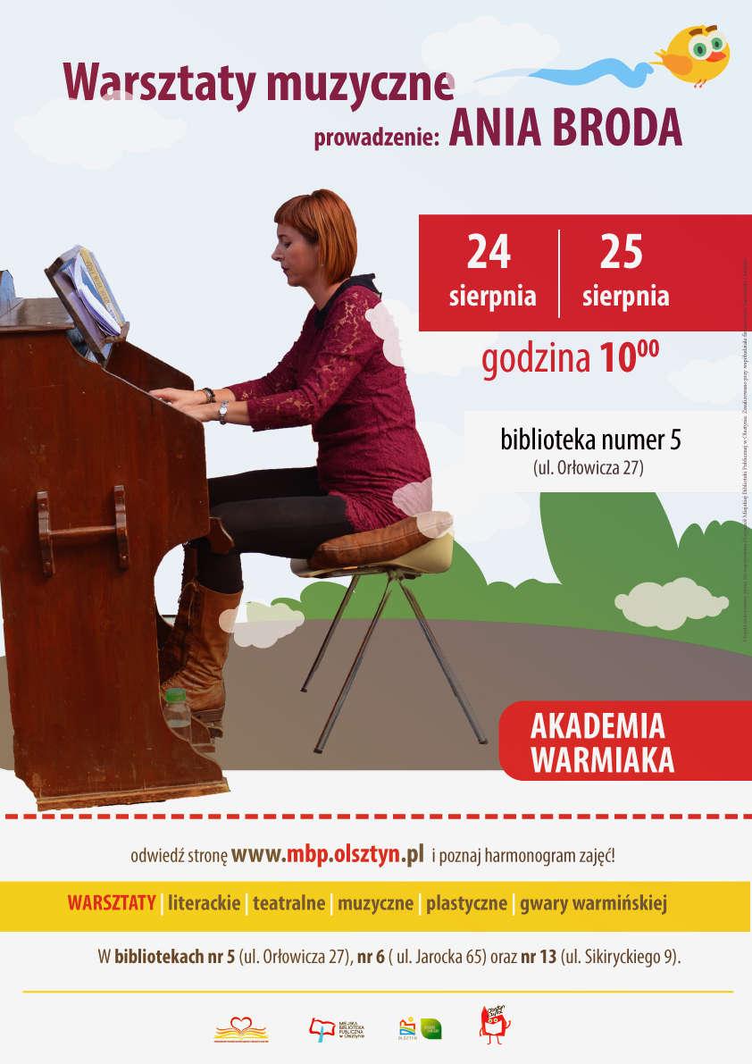 Warsztaty muzyczne z Anią Brodą - full image