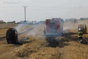 Dwa pożary w czasie prac żniwnych, w ciągu pół godziny. Z tych samych przyczyn