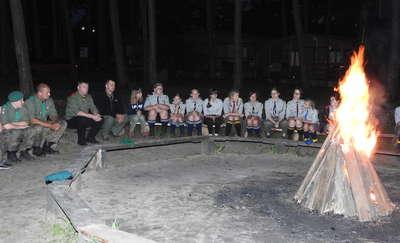 Na obozie harcerskim w Gaju