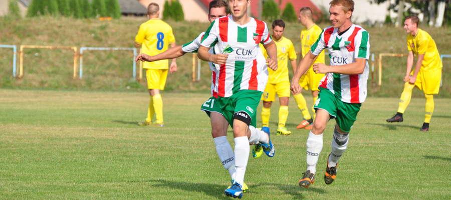 Zwycięskiego gola dla Wkry zdobył Tomasz Kamiński fot. mo