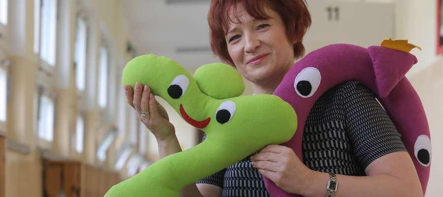 Renata Pasymowska - nauczycielka z SP 10, która wymyśliła zabawkowe literaki pomocne w nauce ortografii