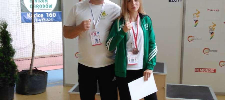 Zuzanna Zych z trenerem Karolem Tuchewiczem