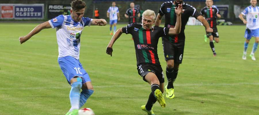 Stomil - GKS Tychy  Olsztyn - Mecz pomiędzy  Stomil Olsztyn - GKS Tychy