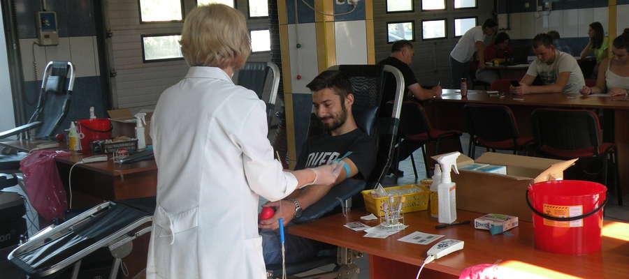 Podczas ostatniego poboru krwi w nowomiejskiej straży