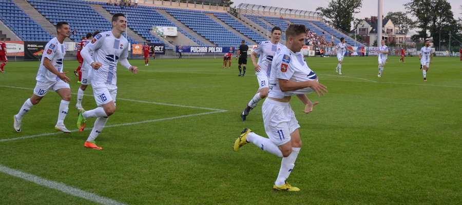 W 20. min Daniel Mlonek zdobył gola dla Sokoła, a trafienie zadedykował oczekiwanemu dziecku
