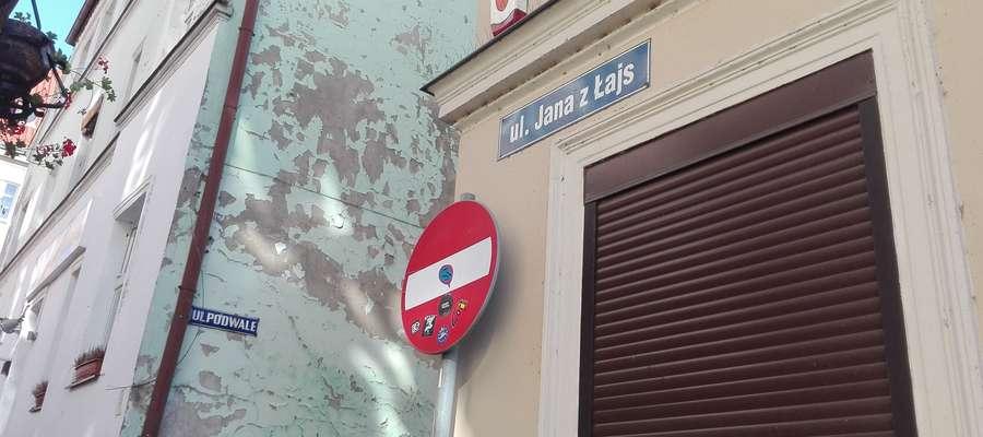 Ulica Jana z Łajs mierzy dokładnie 43 metry.