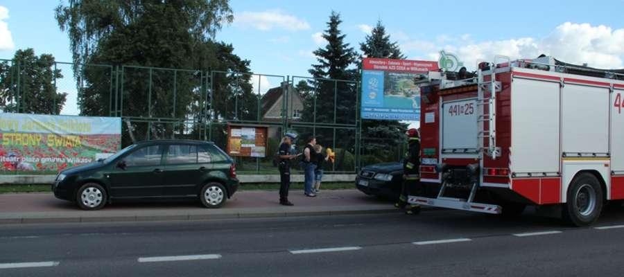 Kolizja na ul.Olsztyńskiej w Wilkasach