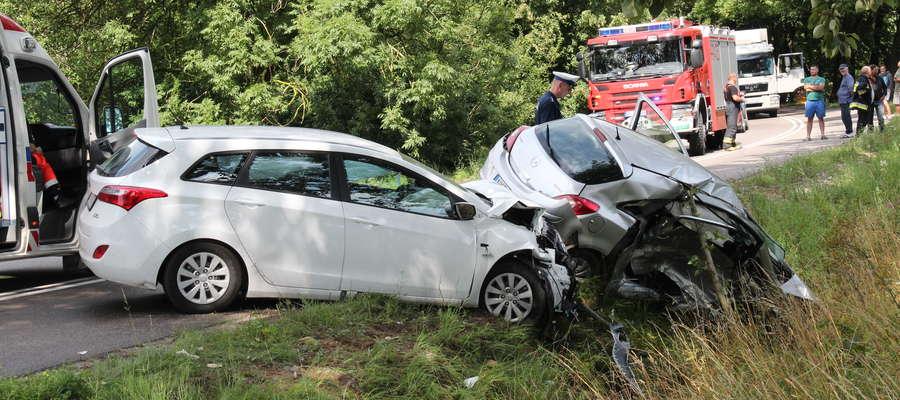 Wypadek w pobliżu Kalinowa