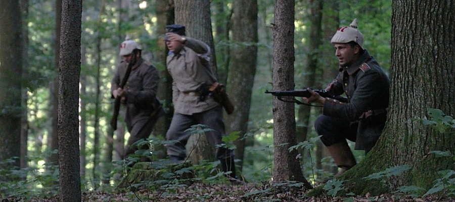 Inscenizacja walk w Lesie Miejskim w Gajewie k. Giżycka