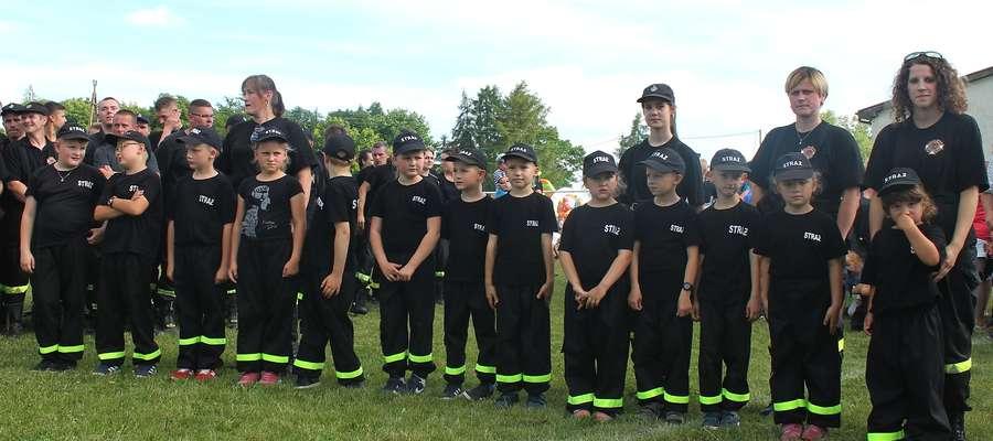 Dziecięcia Drużyna OSP Łążyn podczas tegorocznych zawodów strażackich w Prątnicy