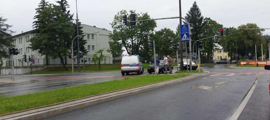 Do kolizji doszło w sobotę na ul. Jagiellończyka w Olsztynie