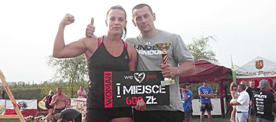 Jola Chmielewska z trenerem Maciejem Wyszyńskim.