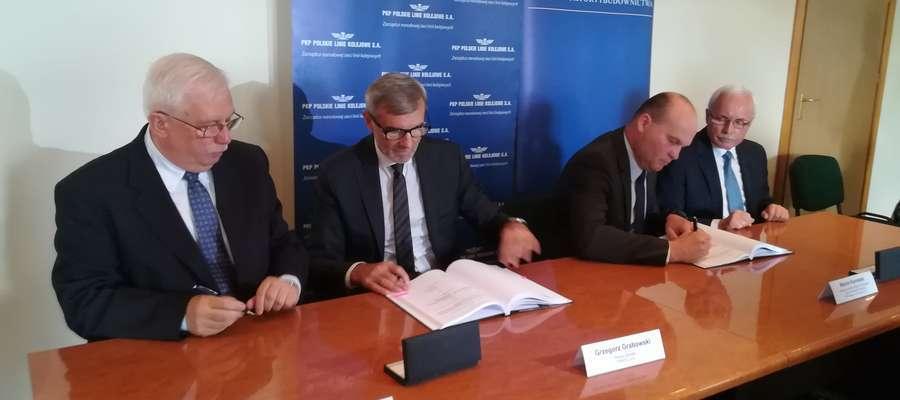 Podpisanie umowy na modernizację linii kolejowej Ełk-Szczytno