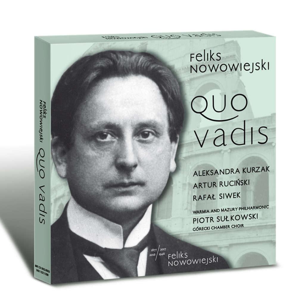 Dwupłytowy album z  oratorium Quo vadis Feliksa Nowowiejskiego  - full image