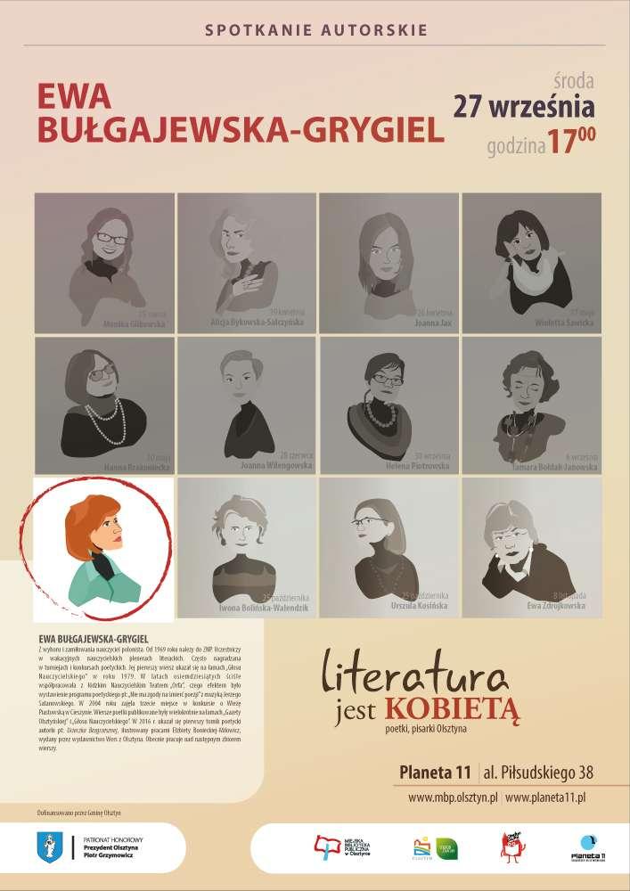 Literatura jest kobietą – spotkanie z Ewą Bułgajewską-Grygiel - full image