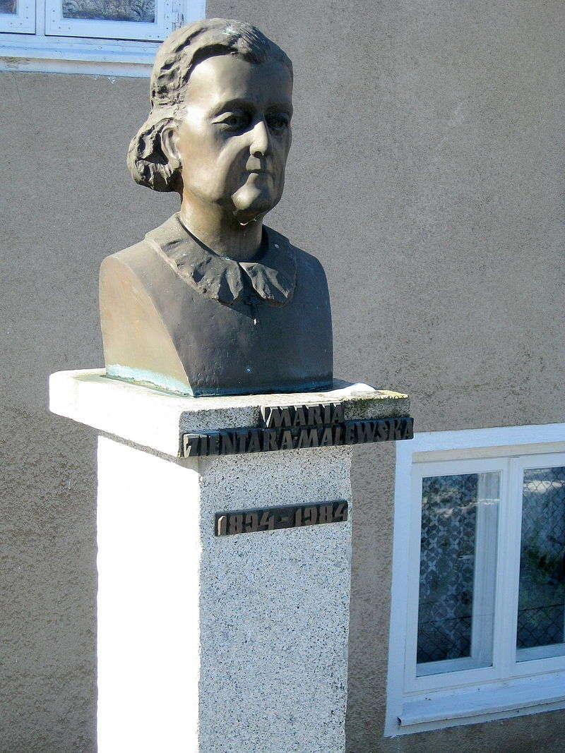 Pomnik Marii Zientary.Malewskiej w Brąswałdzie