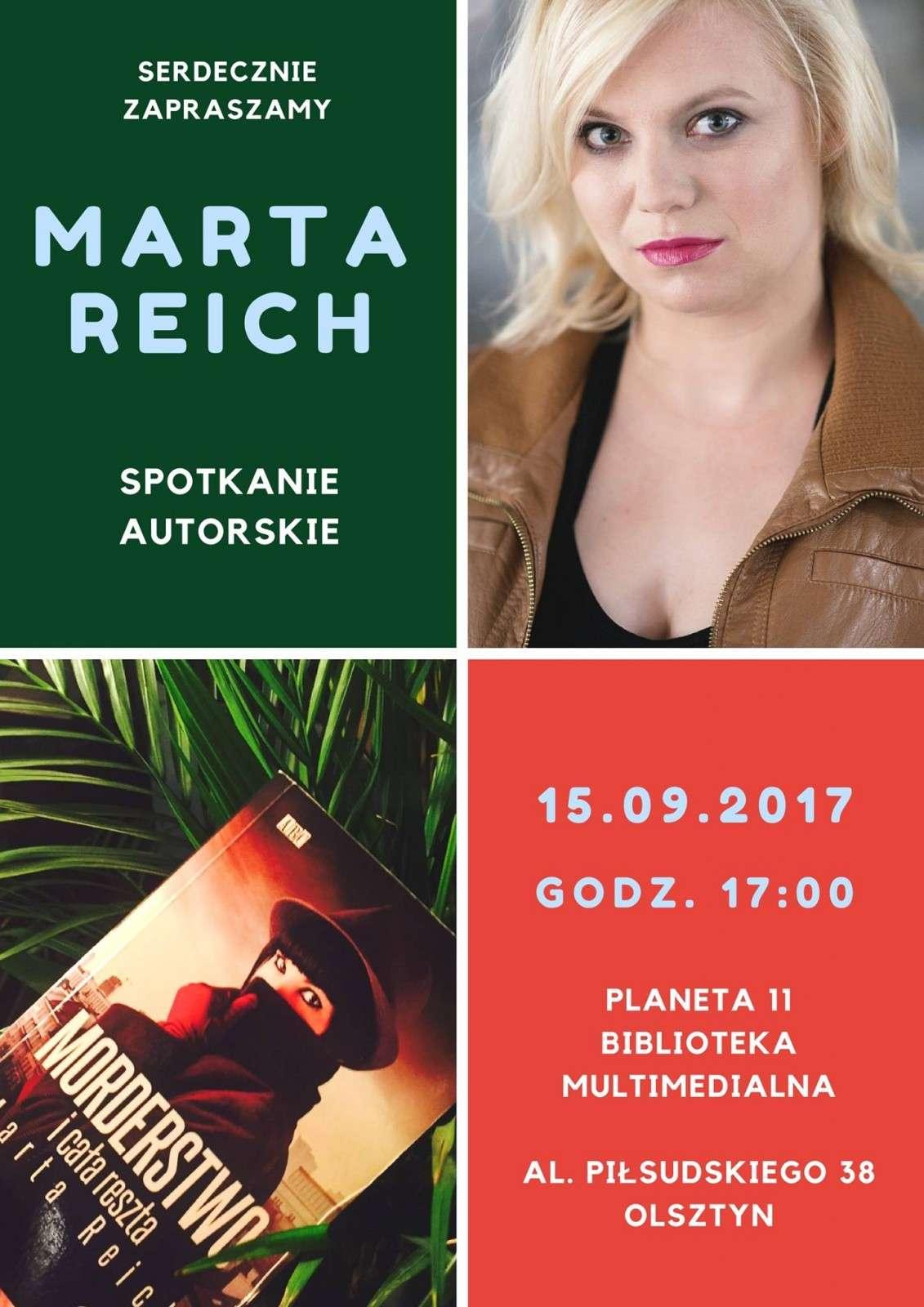 Spotkanie autorskie z Martą Reich - full image