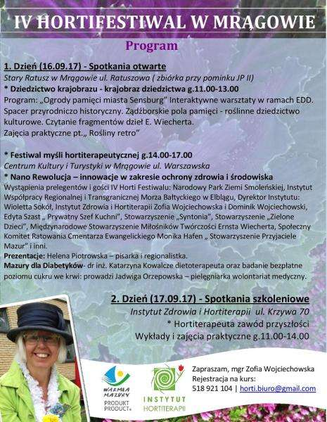 Hortifestiwal w Mrągowie - plakat
