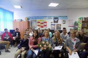 Ewa Nowak rozmawiała z uczniami
